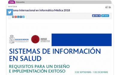 DIPLOMA INTERNACIONAL EN INFORMÁTICA MÉDICA 2018
